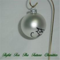 FFF Charities - Craig Morgan - silver Christmas ornament #8