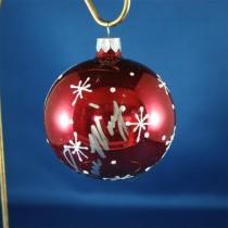 FFF Charities - Lorrie Morgan - red winter scene Christmas ornament #1