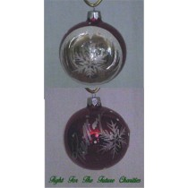 FFF Charities - Lorrie Morgan - red winter scene Christmas ornament #2