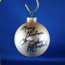 FFF Charities - Louise Mandrell - Gold Christmas Ornament #4