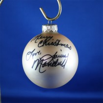 FFF Charities - Louise Mandrell - Gold Christmas Ornament #6