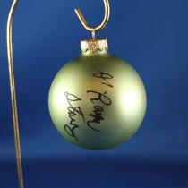 FFF Charities - Dr. Ralph Stanley & Ralph II - green Christmas ornament #3