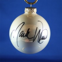 FFF Charities - Mark Wills - white Christmas ornament #2