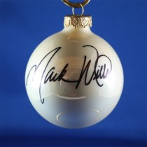 FFF Charities - Mark Wills - white Christmas ornament #5