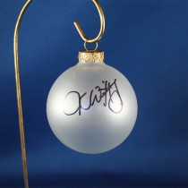 FFF Charities - Jesse Keith Whitley - clear frosted Christmas ornament #2