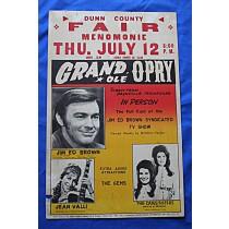 Grand Ole Opry - concert bill Menomonie, Wisconsin