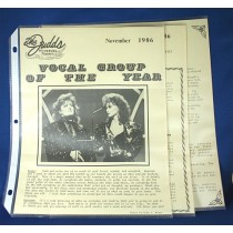 Judds - lot of 3 fan club newsletters from 1986