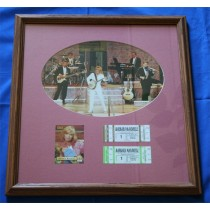 Barbara Mandrell - autographed framed photo with concert ticket