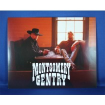 Montgomery Gentry - 8x10 color photograph sitting in a cafe