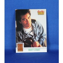 Marty Stuart - autographed 1993 Country Gold - sterling silver trading card #2