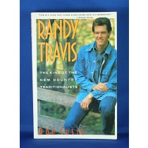 """Randy Travis - book """"Randy Travis The King of The New Country Traditionalists"""" by Don Cusic"""