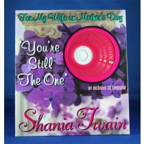 Shania Twain - Mother's Day Card w/ cd (Wife)