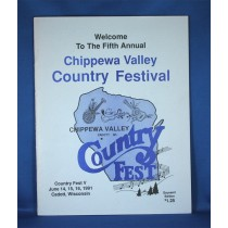"""Various Artists - program """"Chippewa Valley Country Fest - 1991"""""""
