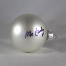 FFF Charities – Moe Bandy - white Christmas ornament #1