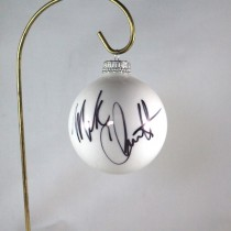 FFF Charities - Mark Chesnutt - 2017 White Christmas Ornament #2