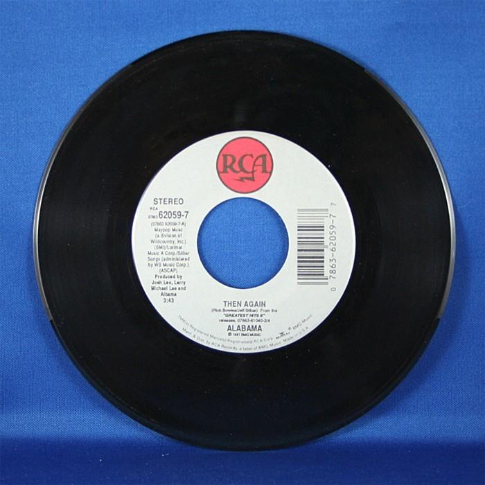 "Alabama - 45 LP ""Then Again"" & ""Hats Off"""