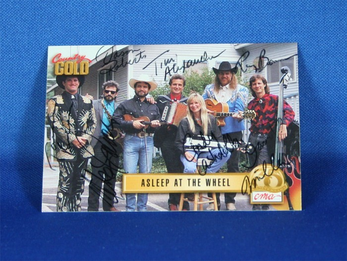 Asleep At The Wheel - autographed 1993 Country Gold trading card #2