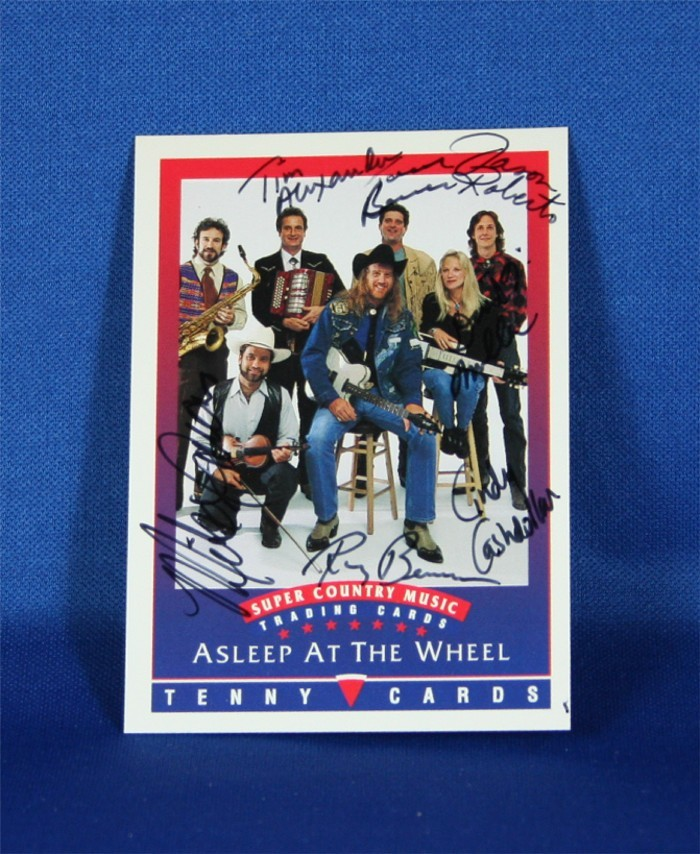 Asleep At The Wheel - autographed Tenny Super Country trading card #1