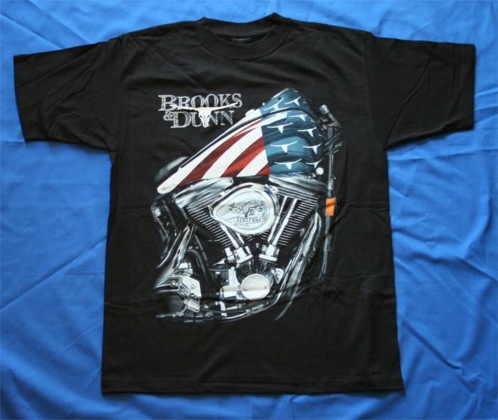 "Brooks & Dunn - t-shirt ""Steers & Stripes"""