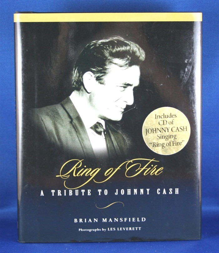 """Johnny Cash - book with cd """"Ring of Fire: A Tribute To Johnny Cash"""" by Brian Mansfield"""