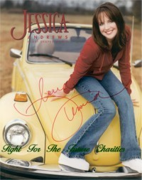 FFF Charities - Jessica Andrews - autographed color photo #1