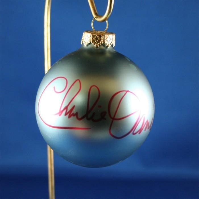 FFF Charities - Charlie Daniels - blue Christmas ornament #4