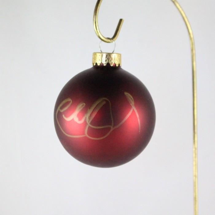 FFF Charities - Charlie Daniels - dark red Christmas ornament #8