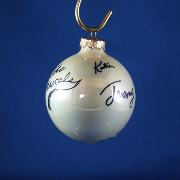 FFF Charities - Grascals - white Christmas ornament #3