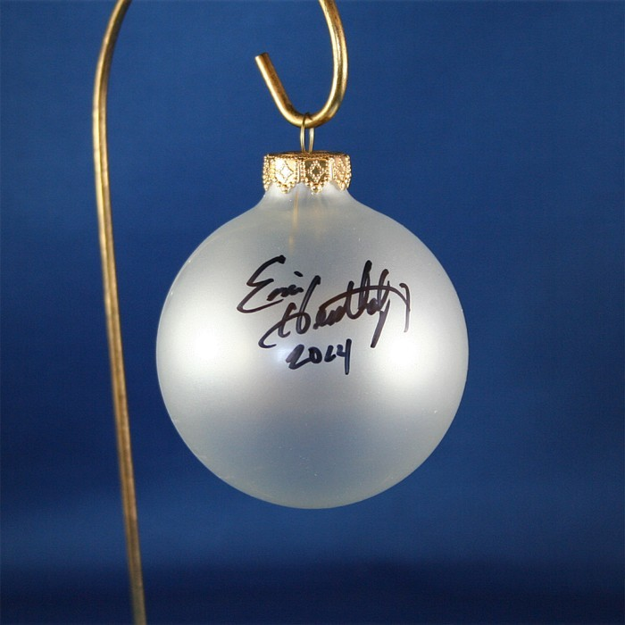 FFF Charities - Eric Heatherly - clear frosted Christmas ornament #4