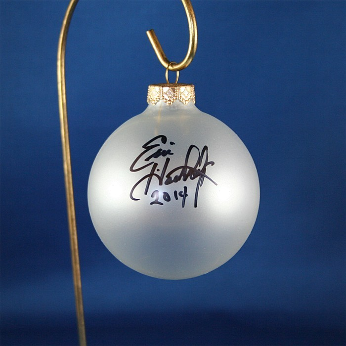FFF Charities - Eric Heatherly - clear frosted Christmas ornament #5