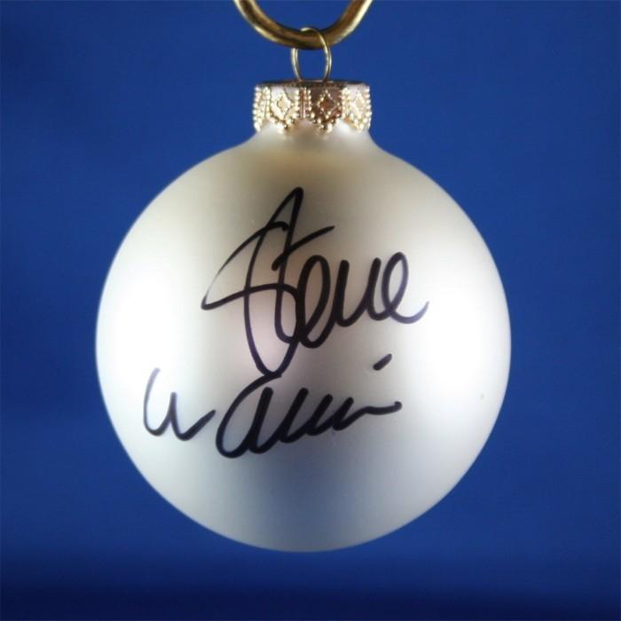 FFF Charities - Steve Wariner - white Christmas ornament #5