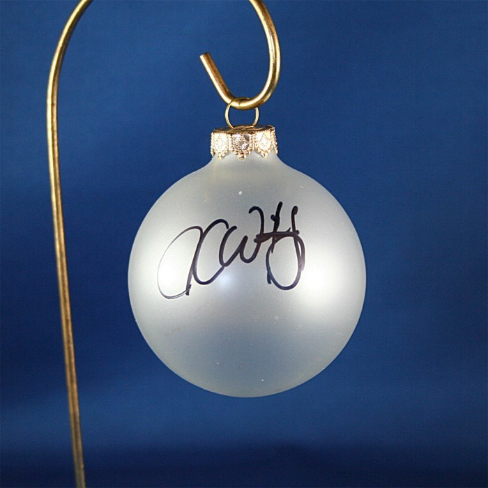 FFF Charities - Jesse Keith Whitley - clear frosted Christmas ornament #4