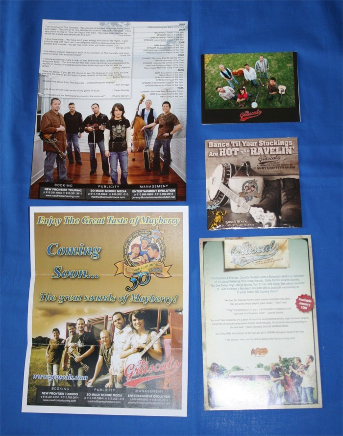 """Grascals - fan pack with CD """"A Tribute To The Music of The Andy Griffith Show"""""""