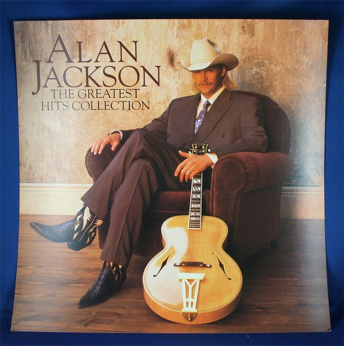 """Alan Jackson - promo two-sided flat """"The Greatest Hits Collection"""""""
