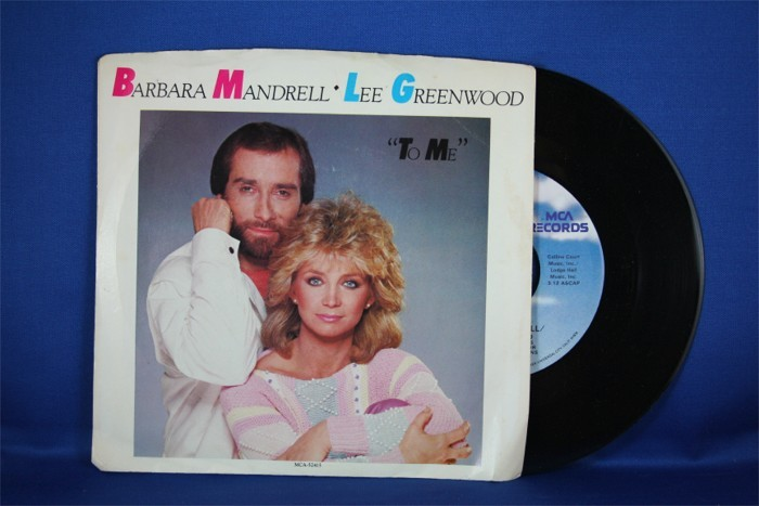 """Barbara Mandrell - 45 LP with Lee Greenwood """"To Me"""" & """"We Were Meant For Each Other"""""""