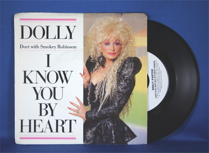 """Dolly Parton - 45 LP with Smokey Robinson """"I Know You By Heart"""""""