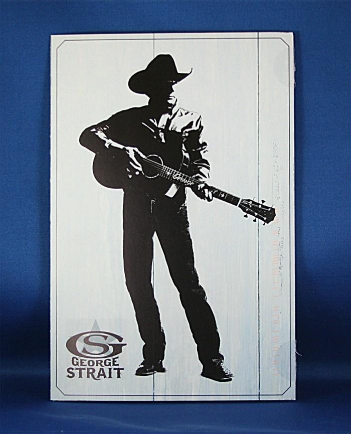 George Strait - 2013 CMA promo tri-fold card