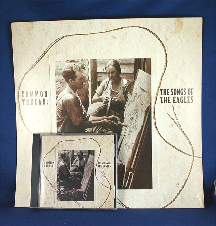 """Various Artists - promo flat """"Common Thread: The Songs of The Eagles"""" with cd"""