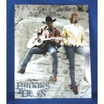 Brooks & Dunn - 8x10 color photograph sitting on rocks