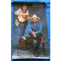 """Bellamy Brothers - promo poster """"Justin Boots"""""""