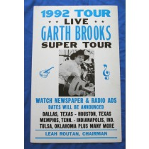 Garth Brooks - concert bill