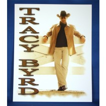 Tracy Byrd - 8x10 color photograph against fence