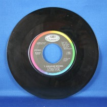 """T. Graham Brown - 45 LP """"Quittin' Time"""" & """"I Tell It Like It Used To Be"""""""
