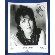 Holly Dunn - autographed 8x10 black & white photo #2