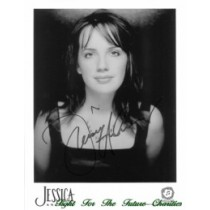FFF Charities - Jessica Andrews - autographed black & white photo #2