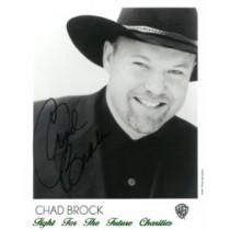 FFF Charities - Chad Brock - autographed black & white photo #1