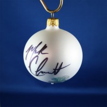 FFF Charities - Mark Chesnutt - white  Christmas ornament #3