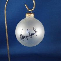 FFF Charities - George Ducas - clear frosted Christmas ornament #3