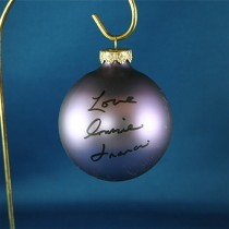 FFF Charities - Connie Francis - purple Christmas ornament #3