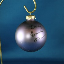 FFF Charities - Connie Francis - purple Christmas ornament #5
